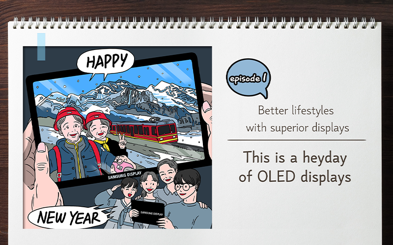 [Better lifestyles with superior displays]This is a heyday of OLED displays !